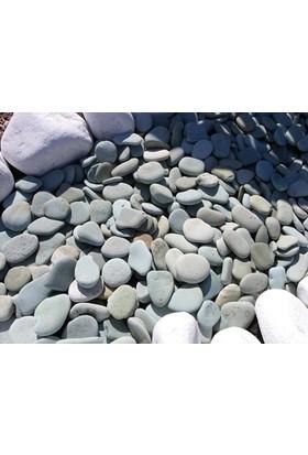 Plantistanbul Flat Pebble Doğal Dekoratif Taş 4-6 Cm, 25 Kg