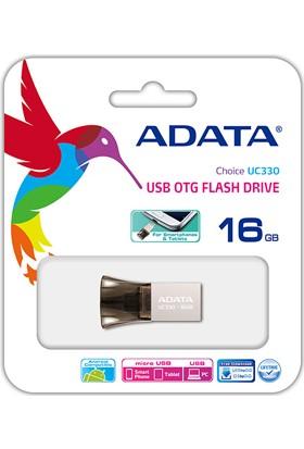 Adata UC330 16GB USB 2.0 OTG USB Bellek AUC330-16G-RBK
