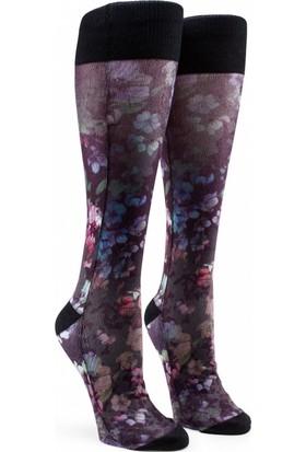 Volcom Native Black Floral Print Snowboard Çorap