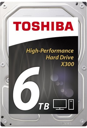 """Toshiba X300 6TB 7200PRM 3.5"""" 128MB Cache Sabit Disk HDWE160EZSTA"""