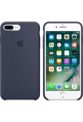 Case 4U Apple iPhone 7 Plus - 8 Plus Silikon Kılıf - Gece Mavisi