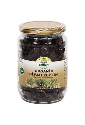 Orgagen Ambarı Organik Sofralık Siyah Zeytin 700 Gr