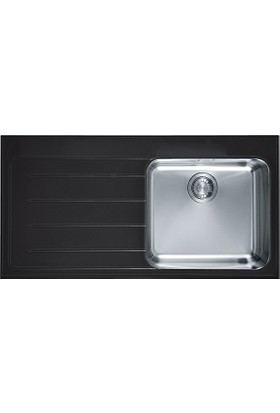 Franke Crystal - Eov 611 Glass Black Eviyeler