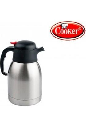 Cooker Çelik Çay Termosu 2 Litre Yüzde Yüz Türk Malı Milli Sermaye