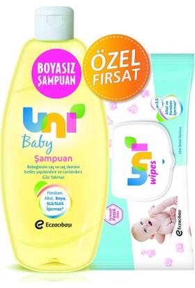 Uni Baby Şampuan 500 Ml (Flip) + Wipes Havlu