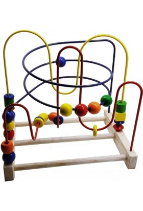 Üçer Ahşap Eğitici Oyuncak Labirent Koordinasyon Oyunu Büyük