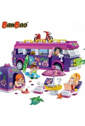 Banbao 375 Parça Plaj Eğlencesi Lego Oyun Seti