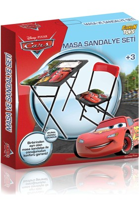 Oyuncaktoys Disney Cars Yazı Tahtalı Erkek Çocuk Ders Çalışma Masası Masa Sandalye Seti