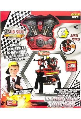 Furkan Toys Oyuncak Masalı Tamir Seti Motorlu Sesli Işıklı 43 Parça Kolay Kurulum