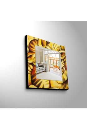 Sarı 50x50 cm MDF Ayna MA-01