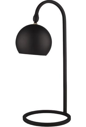 Moddy Serisi Pütürlü Siyah Renkli Oynar Başlıklı Masa Lambası CBJ000600