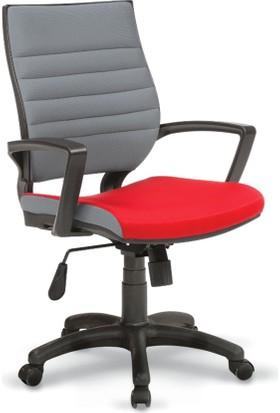 Rigel Çalışma ve Toplantı Koltuğu - Gri/Kırmızı