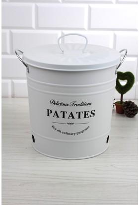 Loveq Metal Kapaklı Patates Kovası Ckr1653-Ptt-B