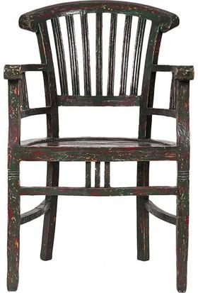 Maxxdepo Beautiful Kolçaklı Sandalye Yeşil