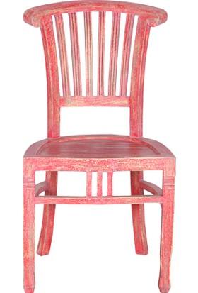 Maxxdepo Beautiful Maun Sandalye Kırmızı