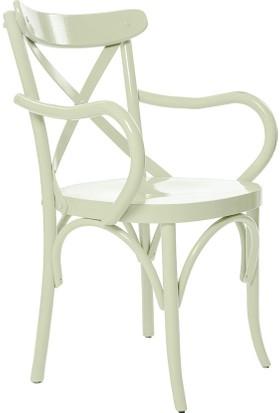 Archi Ahşap Atölyesi Kollu Thonet Sandalye Beyaz