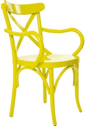 Archi Ahşap Atölyesi Kollu Thonet Sandalye Sarı