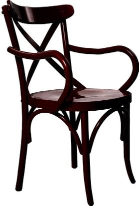 Archi Ahşap Atölyesi Kollu Thonet Sandalye Siyah