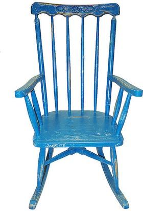 Maxxdepo Little Rock Mavi Sallanan Sandalye