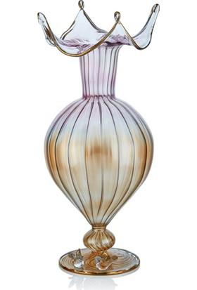 Cemile Optik Luster Çekme Ağızlı Vazo