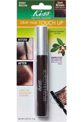 Kiss Brush-İn Color Beyaz Saç Kapatıcı Kahverengi