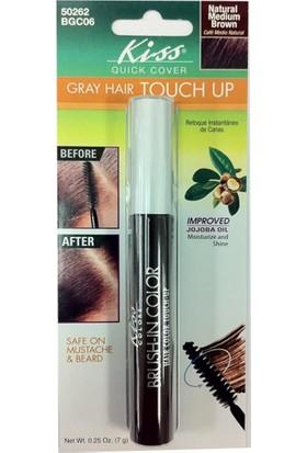 Kiss Brush-İn Color Beyaz Saç Kapatıcı Kızılkahve