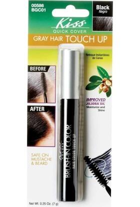 Kiss Brush-İn Color Beyaz Saç Kapatıcı Siyah