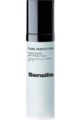 Sensilis Pure Perfecion Moisturising Fluid Yağlı Ciltler İçin Su Bazlı Nemlendirici Spf10 50Ml