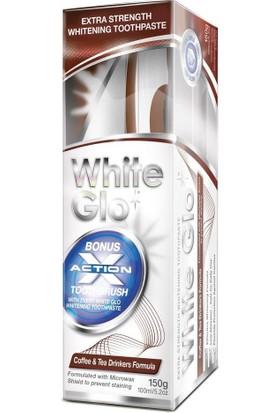 White Glo Çay Kahve İçin Diş Macunu 150Gr Fırça
