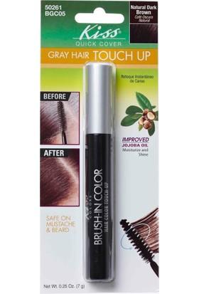 Kiss Brush-İn Color Beyaz Saç Kapatıcı Siyahkahve