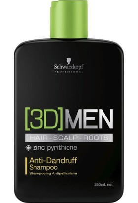 3D Men Anti Dandruff Shampoo Kepek Şampuanı 250 Ml