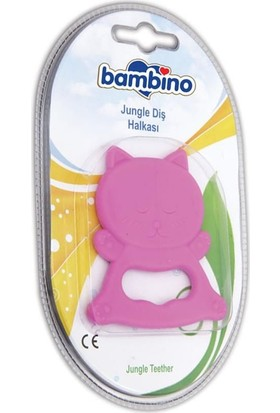 Bambino Jungle Diş Halkası Pembe