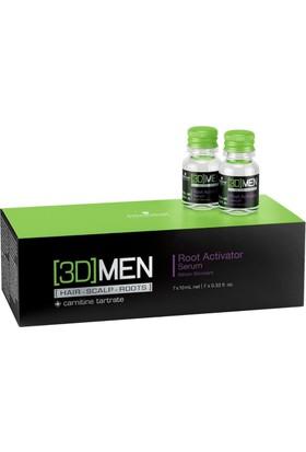 3D Men Root Activator Saç Bakım Serumu 7 x 10 Ml