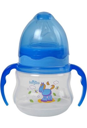 Bambino Pp Geniş Ağızlı Kulplu Biberon-Mavi 150Ml