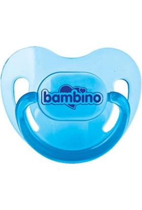 Bambino Silikon Damak Uçlu Emzik Mavi 0-6 Ay