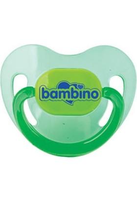 Bambino Silikon Damak Uçlu Emzik Yeşil 18+ Ay