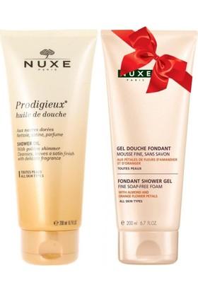 Nuxe Prodigieux Huile De Douche Shower Oil Duş Yağı 200 Ml + Body Gel Douche Fondant Rahatlatıcı Duş Jeli 200 Ml