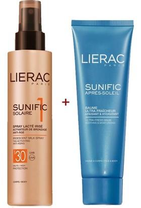Lierac Sunific Solaire 1 Iridescent Milk Spray Spf 30 150 Ml + Sunific Solaire After-Sun Ultra Fresh Balm 125 Ml