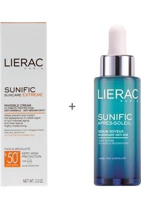 Lierac Sunific Solaire Extreme Invisible Cream Spf 50 50 Ml + Sunific Solaire After-Sun Silky Serum 30 Ml