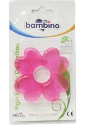 Bambino Sulu&Figürlü Diş Halkası Çiçek-Pembe