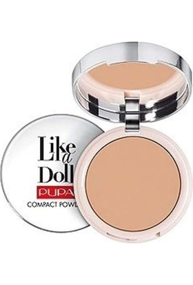 Pupa Milano Like A Doll Compact Powder - Pudra Natural Beige Spf15 10 Gr