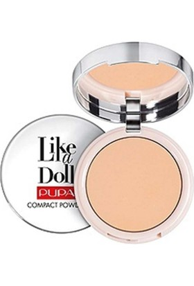 Pupa Milano Like A Doll Compact Powder - Pudra Warm Beige Spf15 10 Gr
