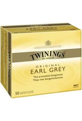 Twinings Poşet Çay - Earl Grey 50'li