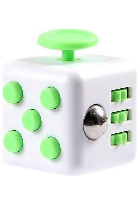 Probiel Orijinal Fidget Cube Kikstarter Versiyon Stres Küpü Yeşil Beyaz