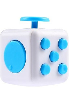 Probiel Orijinal Fidget Cube Kikstarter Versiyon Stres Küpü Mavi Beyaz