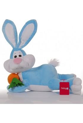 Zoziko Peluş Yatan Tavşan 50 cm Mavi