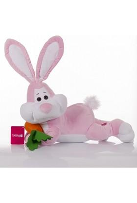 Zoziko Peluş Yatan Tavşan 50 cm Pembe