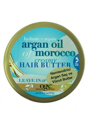 Organix Argan Oil Of Morocco Crem Hair Butter Argan Saç Ve Vücut İçin Nemlendirici 185 gr