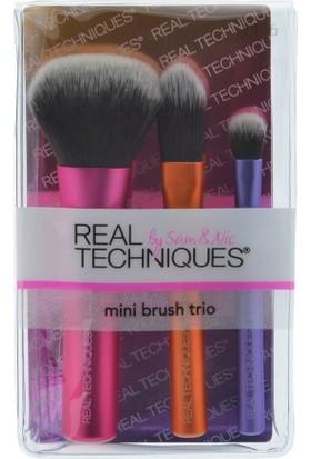Real Techniques Mini Brush Trio Mini Üçlü Fırça Seti