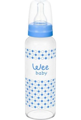 Wee Baby Isıya Dayanıklı Cam Biberon Mavi 240 ml
